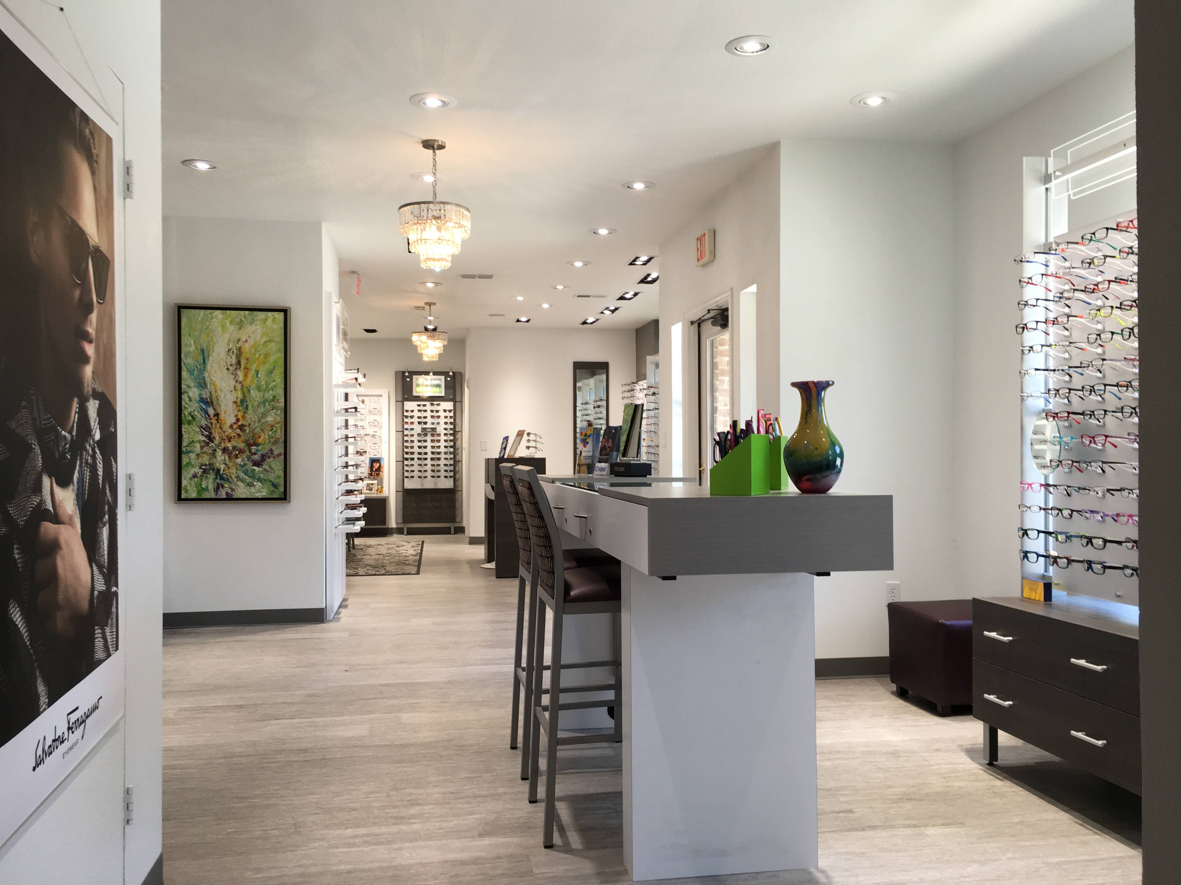 Chic Contemporary Spaces Rendered By Anh Nguyen: Welcome To EyeCare Of Denton